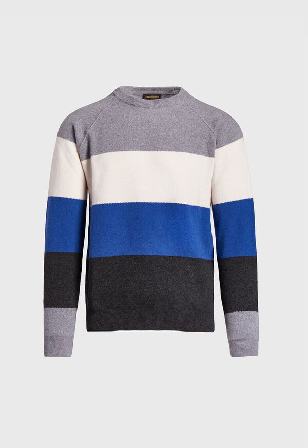 Block Stripe Wool Blend Sweater, image 1