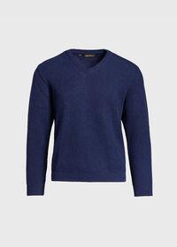 Classic Alpaca Links V-Neck Sweater, thumbnail 1