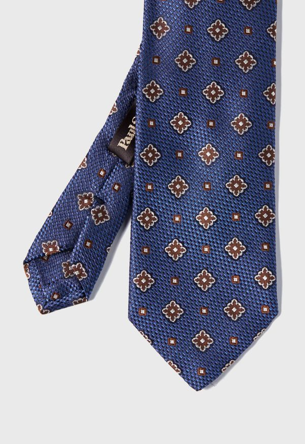 Textured Ground and Royal Square Silk Tie, image 1