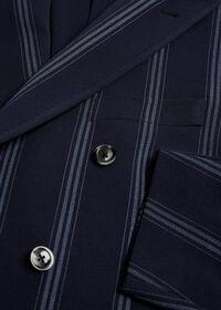 Navy/White Deco Stripe Soft Jacket, thumbnail 2