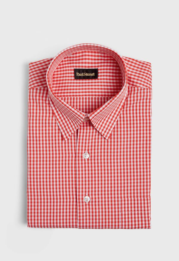 Gingham Cotton Sport Shirt, image 1