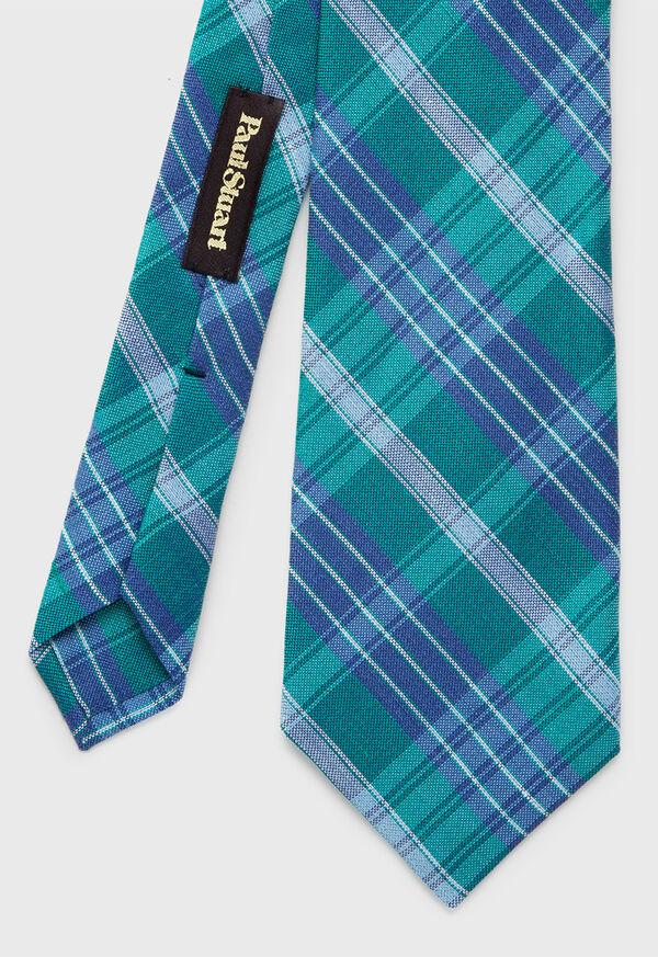 Plaid Silk Tie, image 2