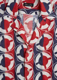 Linen Buoy Print Shirt, thumbnail 3