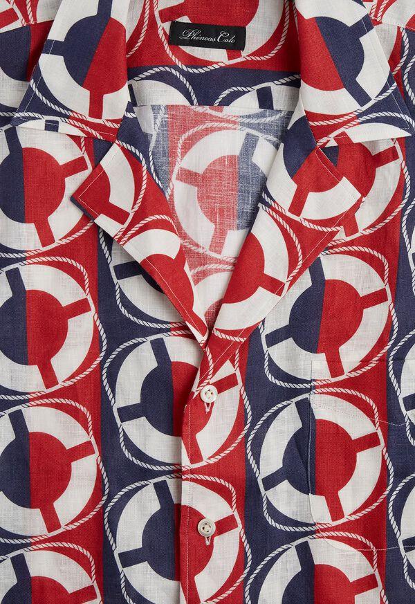 Linen Buoy Print Shirt, image 3