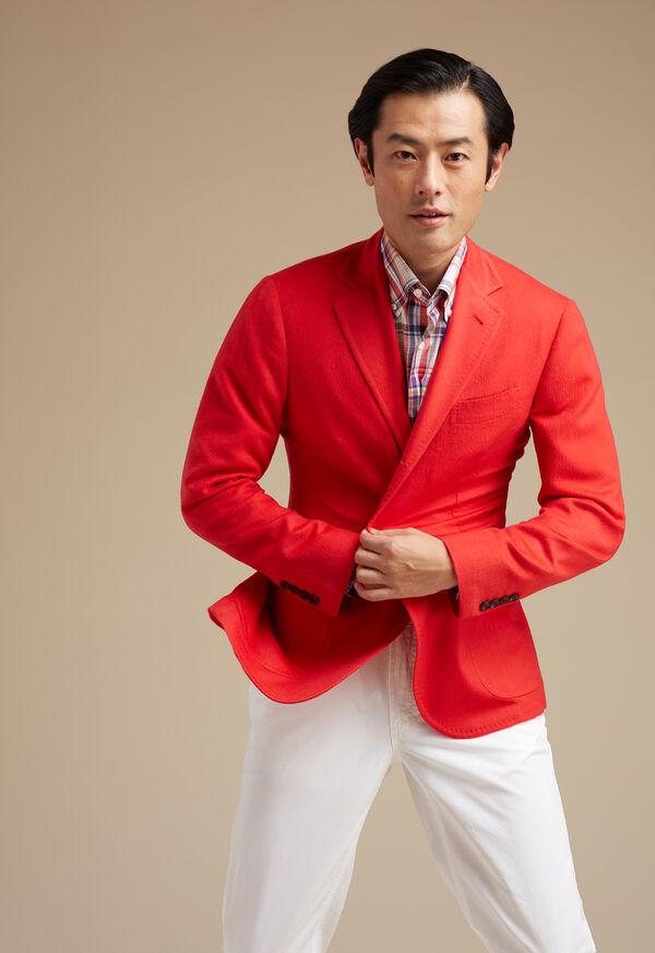 Red Cashmere Soft Jacket, image 2