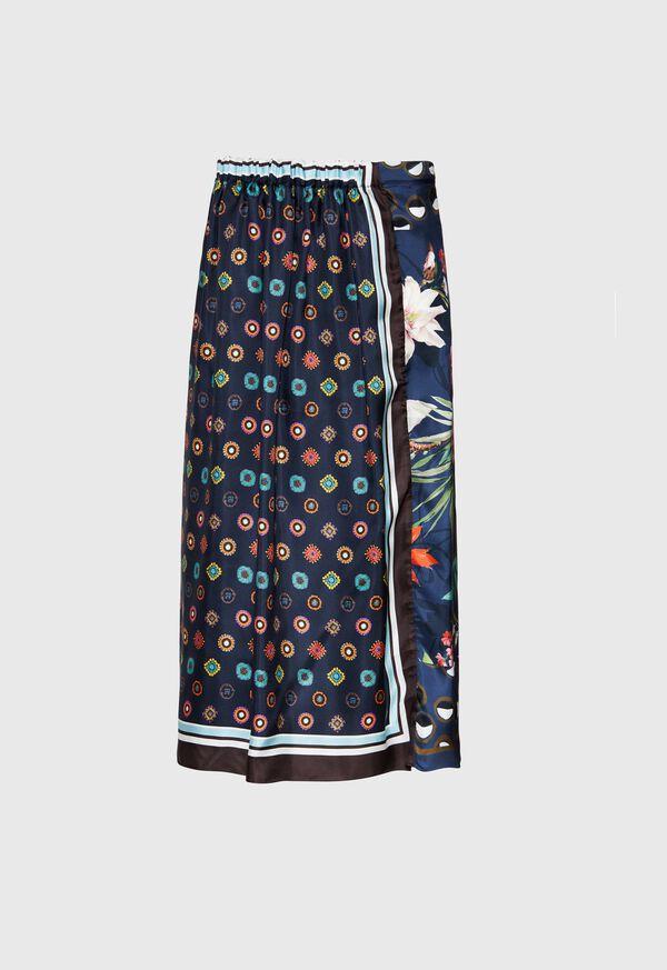 Silk Patchwork Midi Skirt, image 3