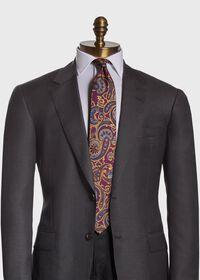 Paisley Madder Print Silk Tie, thumbnail 2