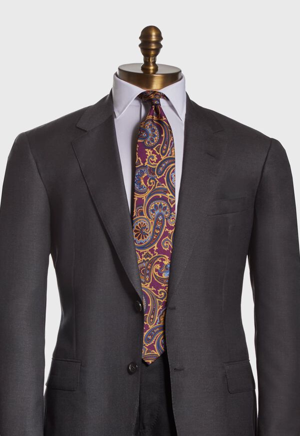 Paisley Madder Print Silk Tie, image 2