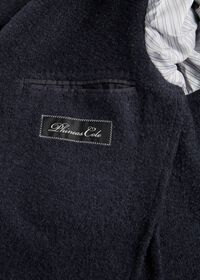 Solid Navy Fuzzy Soft Jacket, thumbnail 3