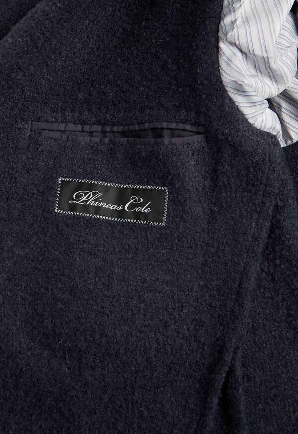 Solid Navy Fuzzy Soft Jacket, image 3