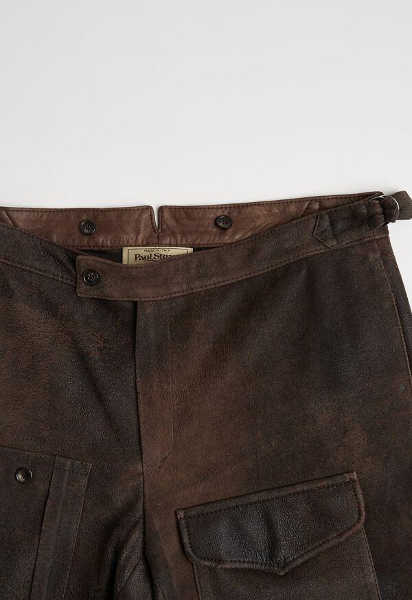 Brown Vintage Leather Pant, image 3