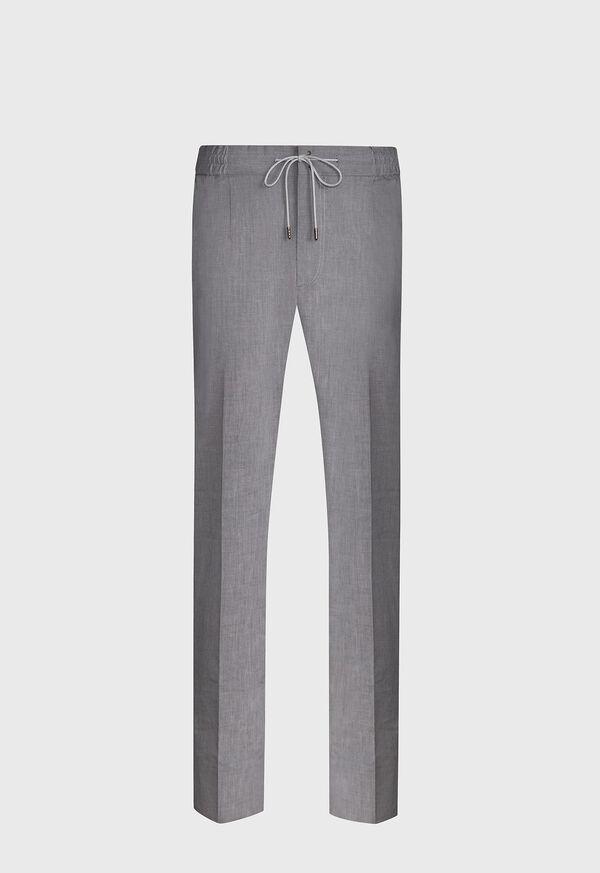 Solid Linen Blend Pant, image 1