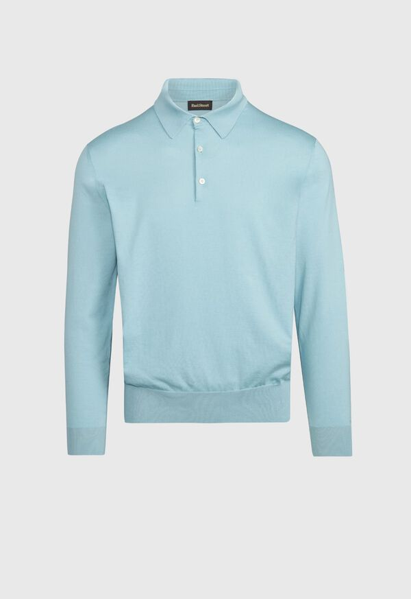 Long Sleeve Cotton Polo, image 3