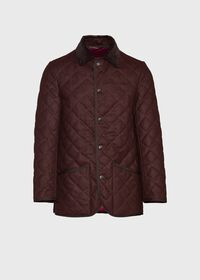 Quilted Loden Barn Jacket with Corduroy Collar, thumbnail 1