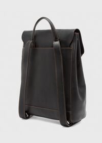 Textured Bridle Leather Backpack, thumbnail 3
