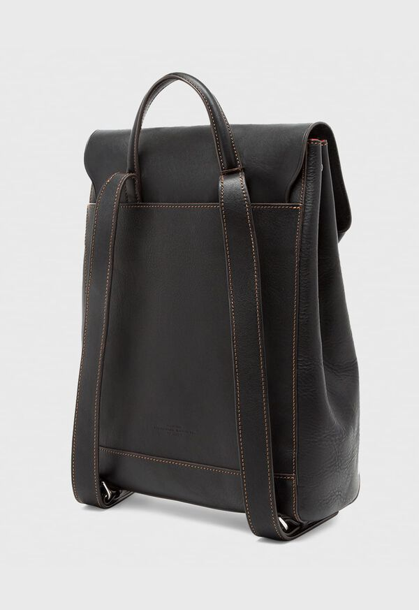 Textured Bridle Leather Backpack, image 3
