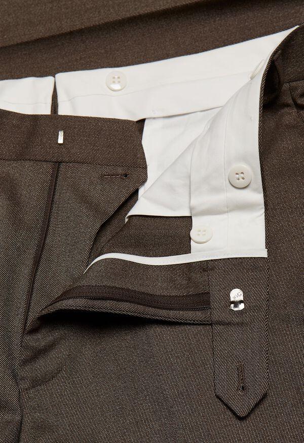 Mink Twill Plain Front Trouser, image 2