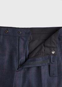 Navy Plaid Soft Shoulder Suit, thumbnail 8