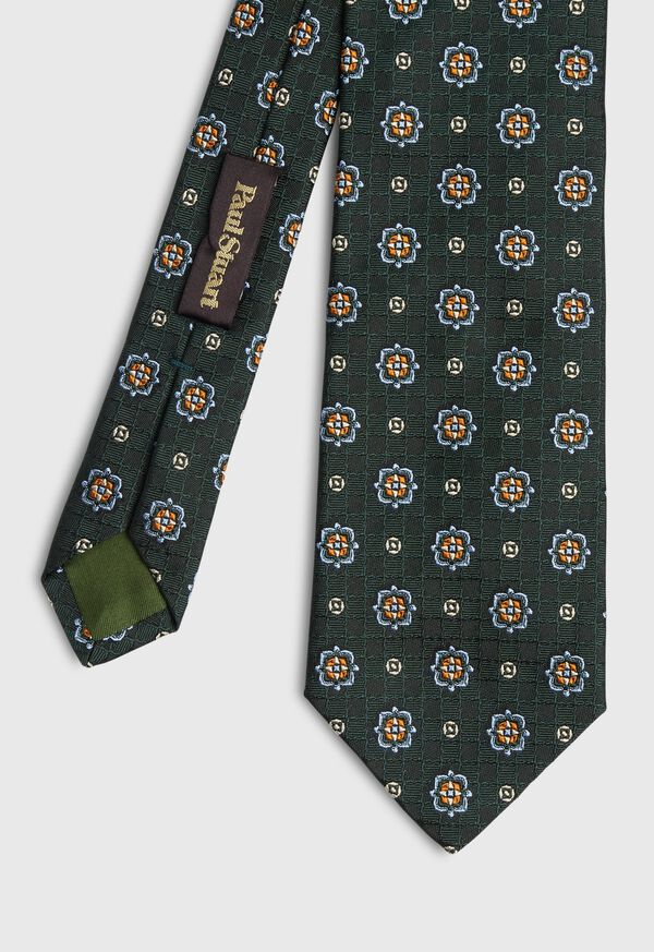 Large Medallion Jacquard Tie, image 1