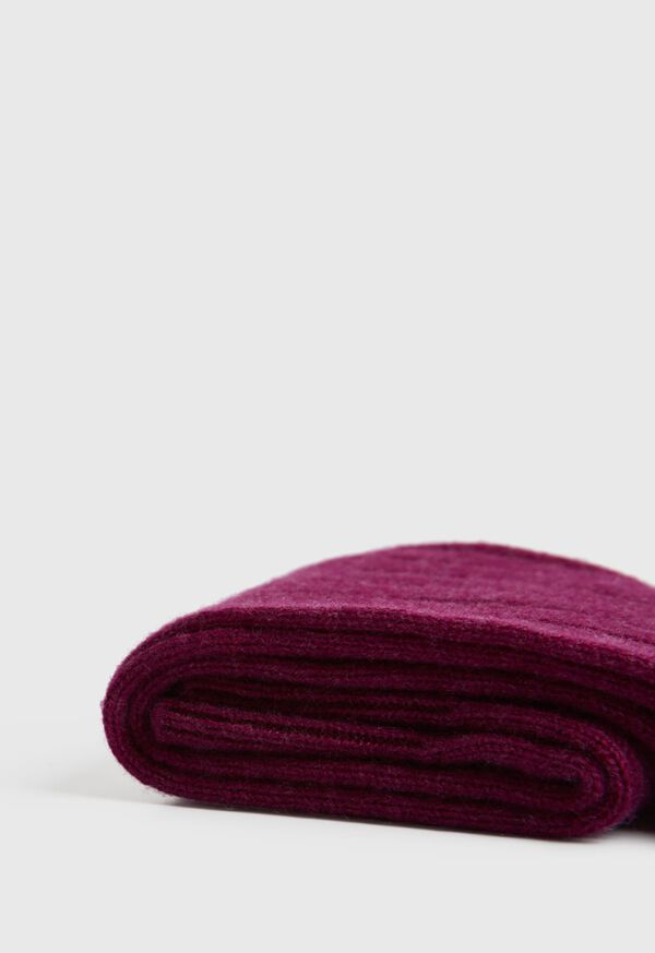 Ribbed Cashmere Over the Calf Socks, image 2