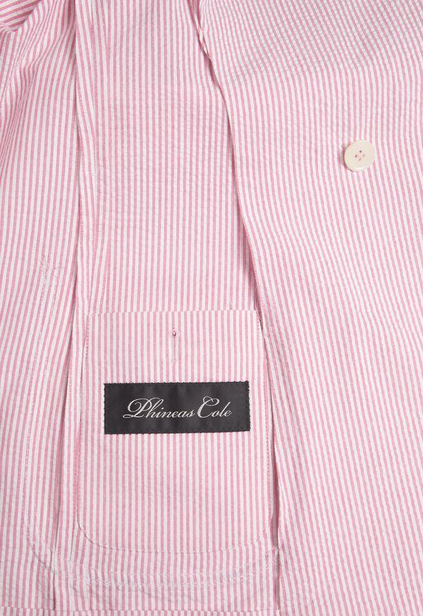 Pink & White Cotton Seersucker Jacket, image 3
