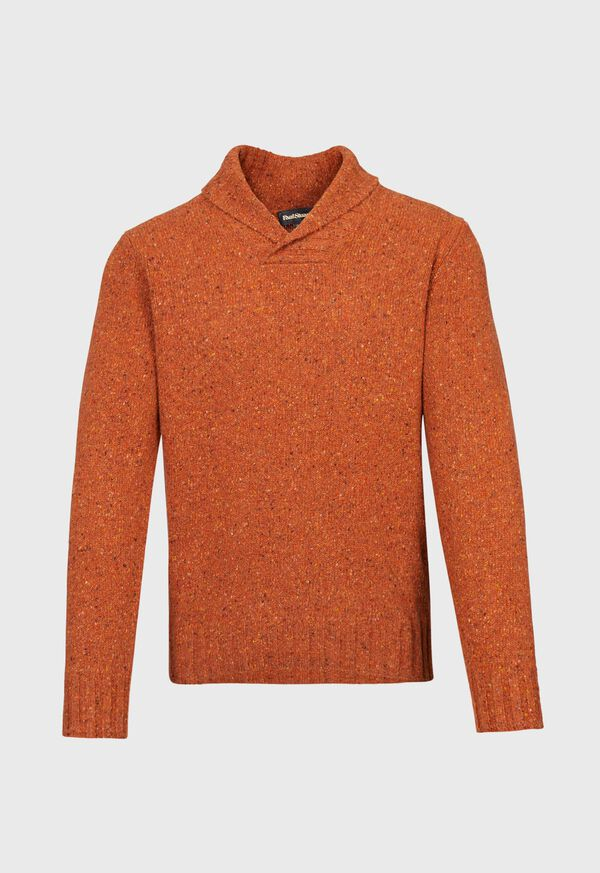 Cashmere Donegal Shawl Collar Pullover Sweater