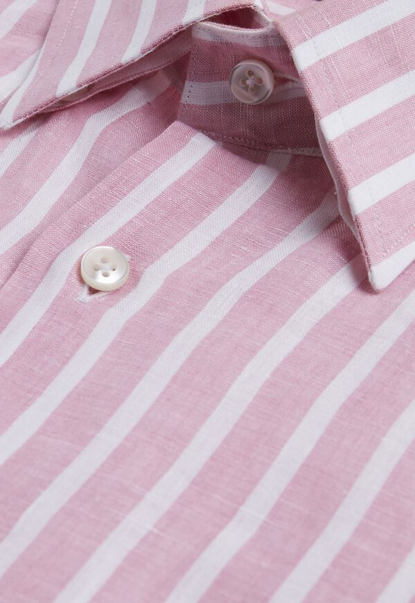 Linen Stripe Sport Shirt, image 2