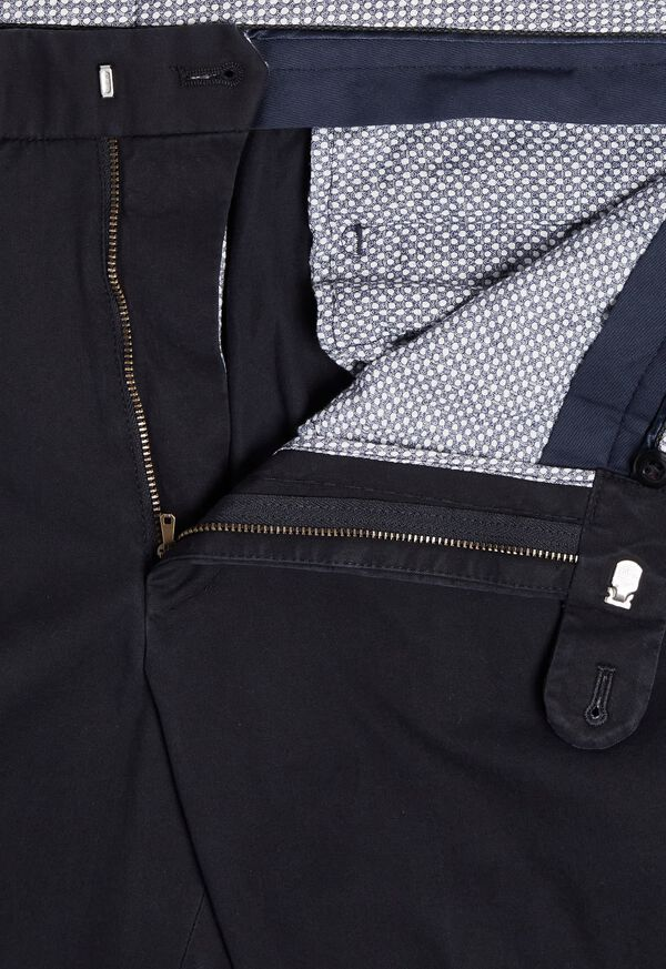 Navy Cotton Stretch Pant, image 2