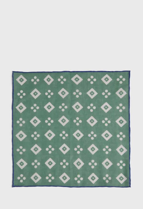 Linen Medallion Pocket Square, image 3