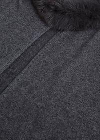 Grey Cape with Fur Trim, thumbnail 2