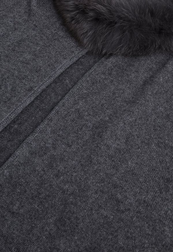 Grey Cape with Fur Trim, image 2