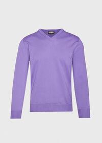 Cotton V- Neck Sweater, thumbnail 1