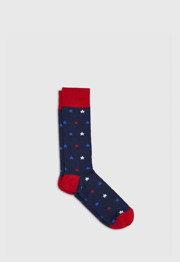 Patriotic Star Crew Sock, image 1