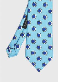 Oval Deco Print Tie, thumbnail 1