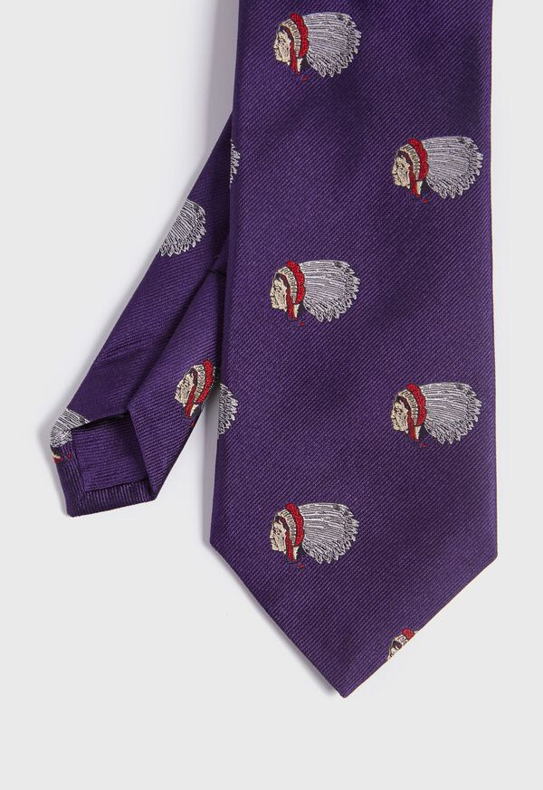 Indian Head Silk Tie, image 1