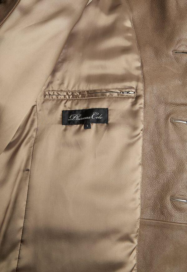 Distressed Leather Coat, image 3