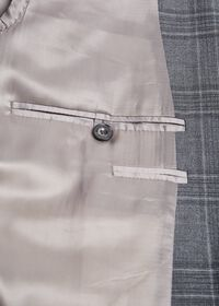 Tonal Plaid Wool Jacket, thumbnail 3