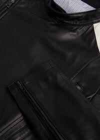 Black Leather Motorcycle Jacket, thumbnail 3