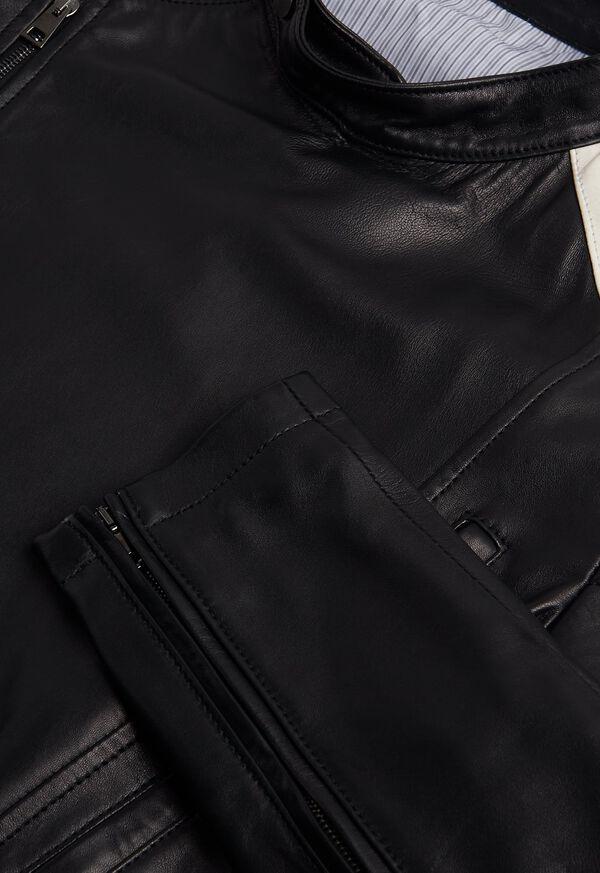 Black Leather Motorcycle Jacket, image 3