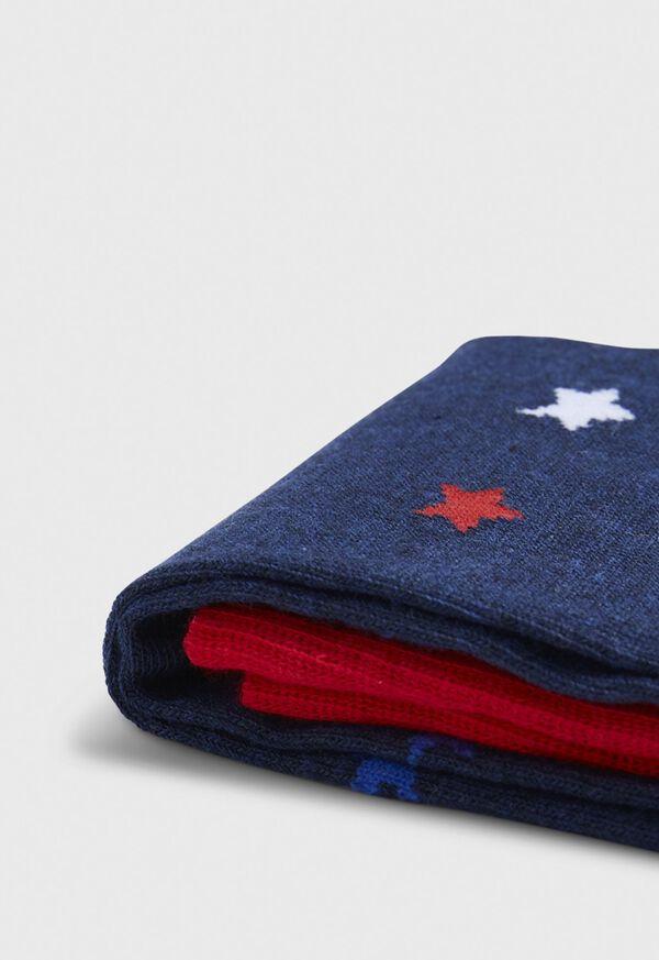 Patriotic Star Crew Sock, image 2