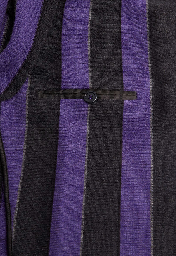 Rice Stitch Merino Wool Stripe Blazer, image 3