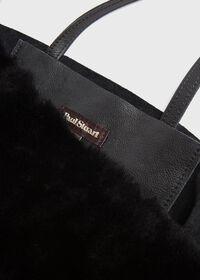 Shearling and Leather Handbag, thumbnail 4