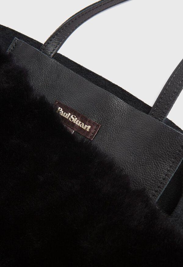 Shearling and Leather Handbag, image 4