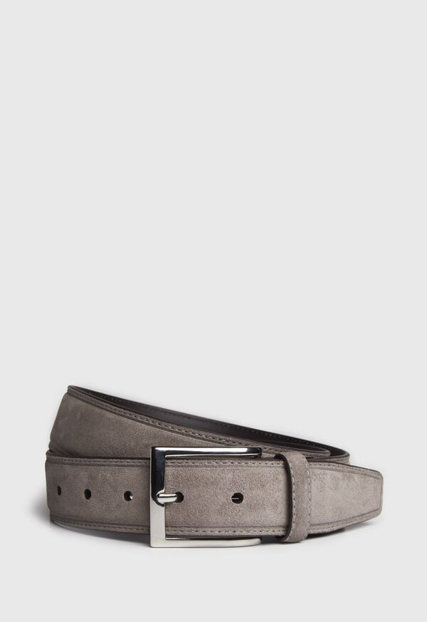 Suede Belt with Silver Buckle