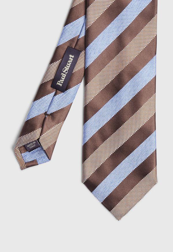 Oxford and Satin Stripe Tie, image 1