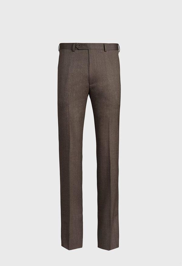 Mink Twill Plain Front Trouser, image 1