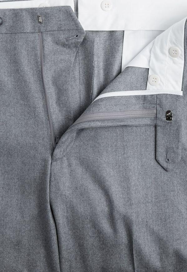 Grey Super 120s Flannel Pant, image 2