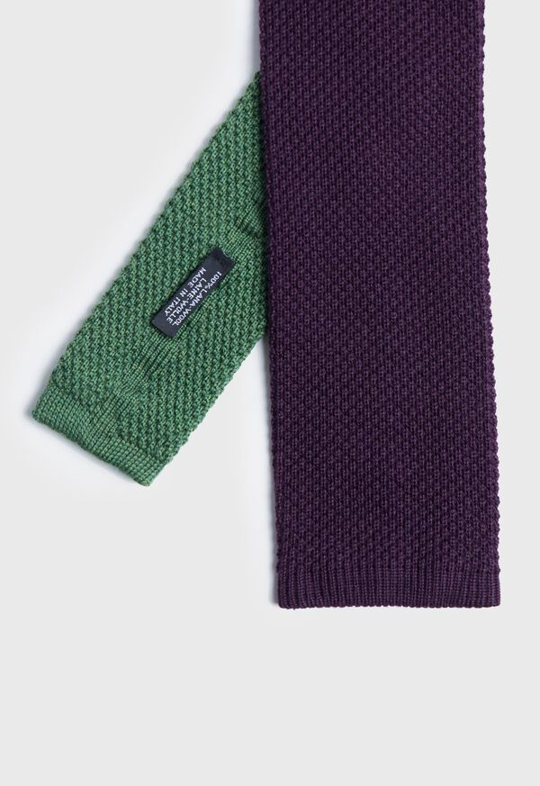 Two Tone Knit  Wool Tie, image 1