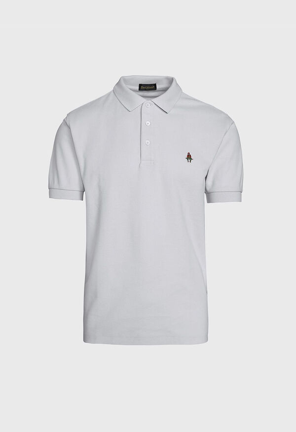 Cotton Pique Logo Polo, image 1