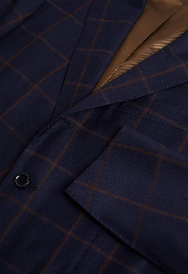 Navy Windowpane Suit, image 2
